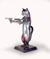 Rebel With The Paws (Indigo) by Maxim - Original Sculpture sized 12x17 inches. Available from Whitewall Galleries
